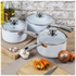 Tower Linear Saucepan Set - White (3 Piece): Image 3