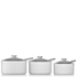 Tower Linear Saucepan Set - White (3 Piece): Image 2