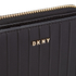 DKNY Women's Gansevoort Pinstripe Small Zip Around Purse - Black: Image 3