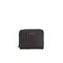 DKNY Women's Gansevoort Pinstripe Small Zip Around Purse - Black: Image 1