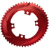 AbsoluteBLACK 110BCD 4 Bolt Spider Mount Aero Oval Chain Ring (Premium): Image 7