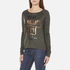 Superdry Women's Slubby Graphic Knitted Jumper - Khaki Twist: Image 2