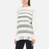 Woolrich Women's Soft Blanket Sweater - Frost White Stripe: Image 2