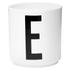 Design Letters Porcelain Cup - E: Image 1