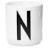 Design Letters Porcelain Cup - N: Image 1