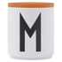 Design Letters Wooden Lid For Porcelain Cup - Orange: Image 1
