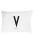 Design Letters Pillowcase - 70x50 cm - V: Image 1