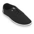 Henleys Men's Stash Canvas Pumps - Black/White: Image 2