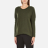 French Connection Women's Viva Vhari Long Sleeve Roundneck Jumper - Dark Olive Night: Image 2