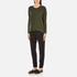 French Connection Women's Viva Vhari Long Sleeve Roundneck Jumper - Dark Olive Night: Image 4