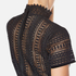 Perseverance Women's Cable Lace Midi Dress with High Neck and Ribbon Details - Black: Image 6