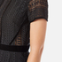 Perseverance Women's Cable Lace Midi Dress with High Neck and Ribbon Details - Black: Image 5