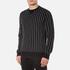Edwin Men's Classic Crew Sweatshirt - Black Vertical Stripes: Image 2