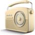 Akai A60010CDAB DAB Retro Radio - Cream: Image 2