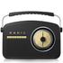 Akai A60010DAB DAB Retro Radio - Black: Image 1