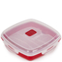 Tower T90811R Microwave Plate 880ml - Red: Image 1
