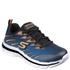 Skechers Kids' Nitrate Trainers - Blue/Orange: Image 1