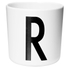 Design Letters Kids' Collection Melamin Cup - White - R: Image 1