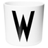 Design Letters Kids' Collection Melamin Cup - White - W: Image 1