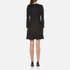 Marc Jacobs Women's Long Sleeve Dress with Crochet Collar - Black: Image 3
