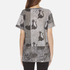 Marc Jacobs Women's Skater Patchwork Cat T-Shirt - Grey/Multi: Image 3
