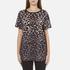 Marc Jacobs Women's Leopard Skater T-Shirt - Snow Leopard: Image 1