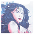 DC Comics Men's Wonder Woman Stencil T-Shirt - White: Image 3