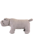 Faux Leather British Bulldog Footstool - Grey: Image 2