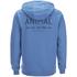 Animal Men's Shiver Zip Through Back Print Hoody - Royale Blue: Image 2