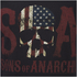 T-Shirt Homme Sons of Anarchy Drapeau Skull - Noir: Image 6