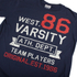 Varsity Team Players Men's West 86 T-Shirt - Navy: Image 3