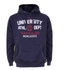 Varsity Team Players Men's University Athletic Hoody - Navy: Image 1