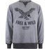 Cotton Soul Men's Free & Wild Sweatshirt - Grey Marl: Image 1