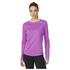 adidas Women's Sequencials Climalite Running Long Sleeve T-Shirt - Purple: Image 1