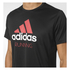 adidas Men's Performance Essentials Running T-Shirt - Black/Red: Image 4