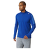 adidas Men's Response 1/4 Zip Long Sleeve Running T-Shirt - Blue: Image 1