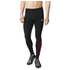 adidas Men's Response Long Running Tights - Black/Red: Image 1