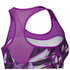 adidas Women's Print Training Racer Back Bra - Purple: Image 2
