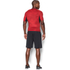 Under Armour Men's HeatGear Armour Printed Short Sleeve Compression T-Shirt - Red/Black: Image 5
