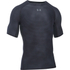 Under Armour Men's HeatGear Armour Printed Short Sleeve Compression T-Shirt - Black/Steel: Image 1