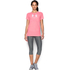 Under Armour Women's Favorite Big Logo Short Sleeve T-Shirt - Brilliance Pink: Image 3
