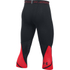 Under Armour Men's HeatGear SuperVent 3/4 Leggings - Black/Red: Image 2