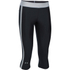 Under Armour Women's HeatGear Sport Capri Tights - Black/True Grey Heather: Image 1