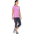 Under Armour Women's Favorite Big Logo Short Sleeve T-Shirt - Verve Violet: Image 4