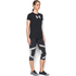 Under Armour Women's Favorite Big Logo Short Sleeve T-Shirt - Black/White: Image 4
