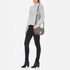 Diane von Furstenberg Women's Love Power Suede Saddle Bag - Slate: Image 2