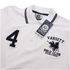 Varsity Team Players Men's College Polo Shirt - White/Navy: Image 2