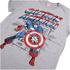 T-Shirt Homme Marvel Captain America Rétro - Gris: Image 2