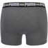 Puma Men's 2-Pack Striped Boxers - Charcoal/Light Grey: Image 3