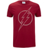 DC Comics Men's The Flash Line Logo T-Shirt - Cardinal Red: Image 1
